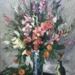 Filippo De Pisis, Vaso di fiori con pappagallo