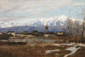 Guglielmo CiardiVal_Belluna 24,5x39.5 olio su tavola