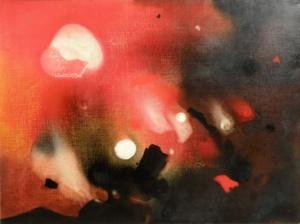 Edmondo Bacci, Segnale di Takis, 1958, olio su tela, 90x120cm